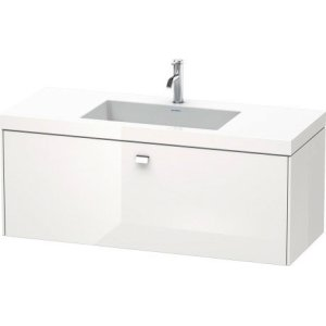 Furniture Washbasin C-bonded With Vanity Wall-mounted, White High Gloss (decor)