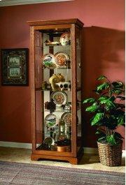 Two Way Sldg Door Curio Golden Oak III Product Image