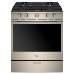 Whirlpool5.8 cu. ft. Smart Slide-in Gas Range with EZ-2-Lift Hinged Cast-Iron Grates Fingerprint Resistant Sunset Bronze