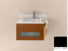 "Rebecca 23"" Wall Mount Bathroom Vanity Base Cabinet in Black"