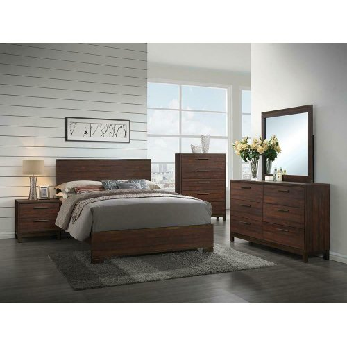 Edmonton Transitional Rustic Tobacco Eastern King Bed
