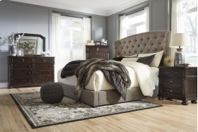 Gerlane - Dark Brown 2 Piece Bed Set (King)