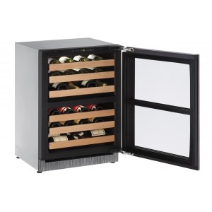 U-Line2000 Series 60 Cm Wine Cellar With Integrated Frame Finish and Field Reversible Door Swing (220-240 Volts / 50 Hz)