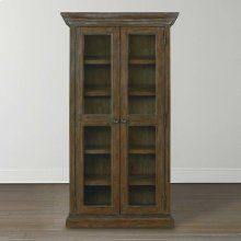 Compass Northern Grey Compass Tall Single Display Cabinet