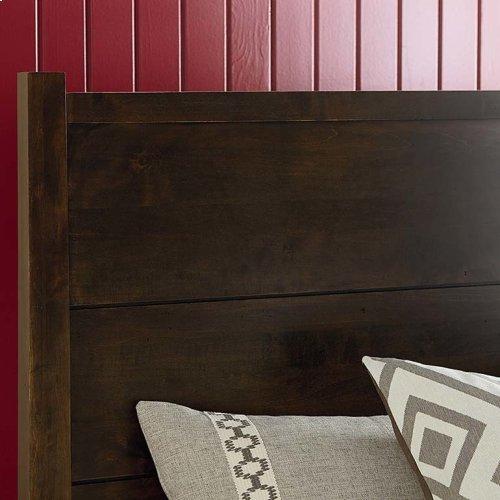 Bench*Made Maple Uph Panel Headboard Queen