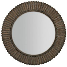 Clarendon Round Mirror in Arabica (377)