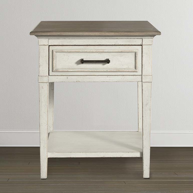 Bassett Furniture Bella Wood Top Bedside Table