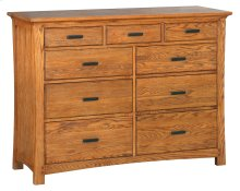 LSO 9-Drawer Prairie City Dresser