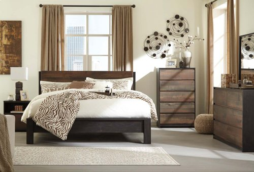 Windlore - Dark Brown 3 Piece Bed Set (King)
