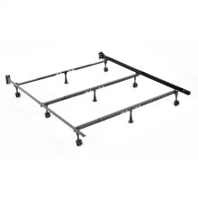 Solutions Compact Universal Folding Bed Frame with Tool-Free Assembly, Black Powder Coat Finish, Twin - California King