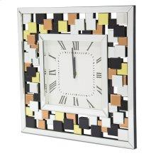 Square Clock W/colored Accents