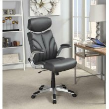 Contemporary Grey and Silver Office Chair