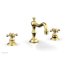 HENRI Widespread Faucet - Cross Handles 161-01 - Satin Gold
