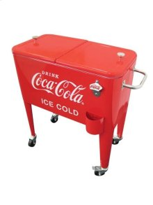 60QT RETRO COCA-COLA COOLER (ICE COLD) - RED