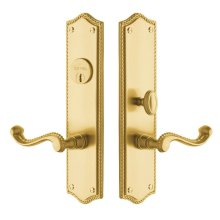 Satin Brass and Brown Bristol Entrance Trim