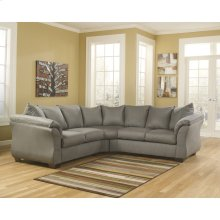 Signature Design by Ashley Darcy Sectional in Cobblestone Microfiber