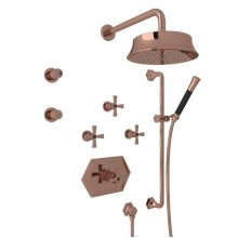Rose Gold Bellia Bekit370l Thermostatic Shower Package