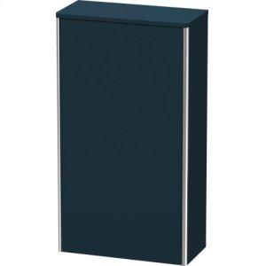 Semi-tall Cabinet, Night Blue Satin Matt Lacquer