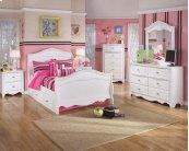 Exquisite - White 4 Piece Bed Set (Full)