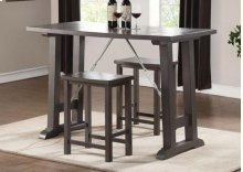 GRAY 3PC PK COUNTER HEIGHT SET