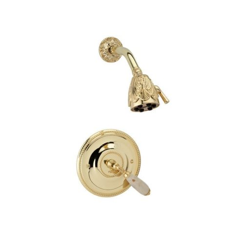 VALENCIA Pressure Balance Shower Set PB3338D - Satin Nickel with Satin Gold