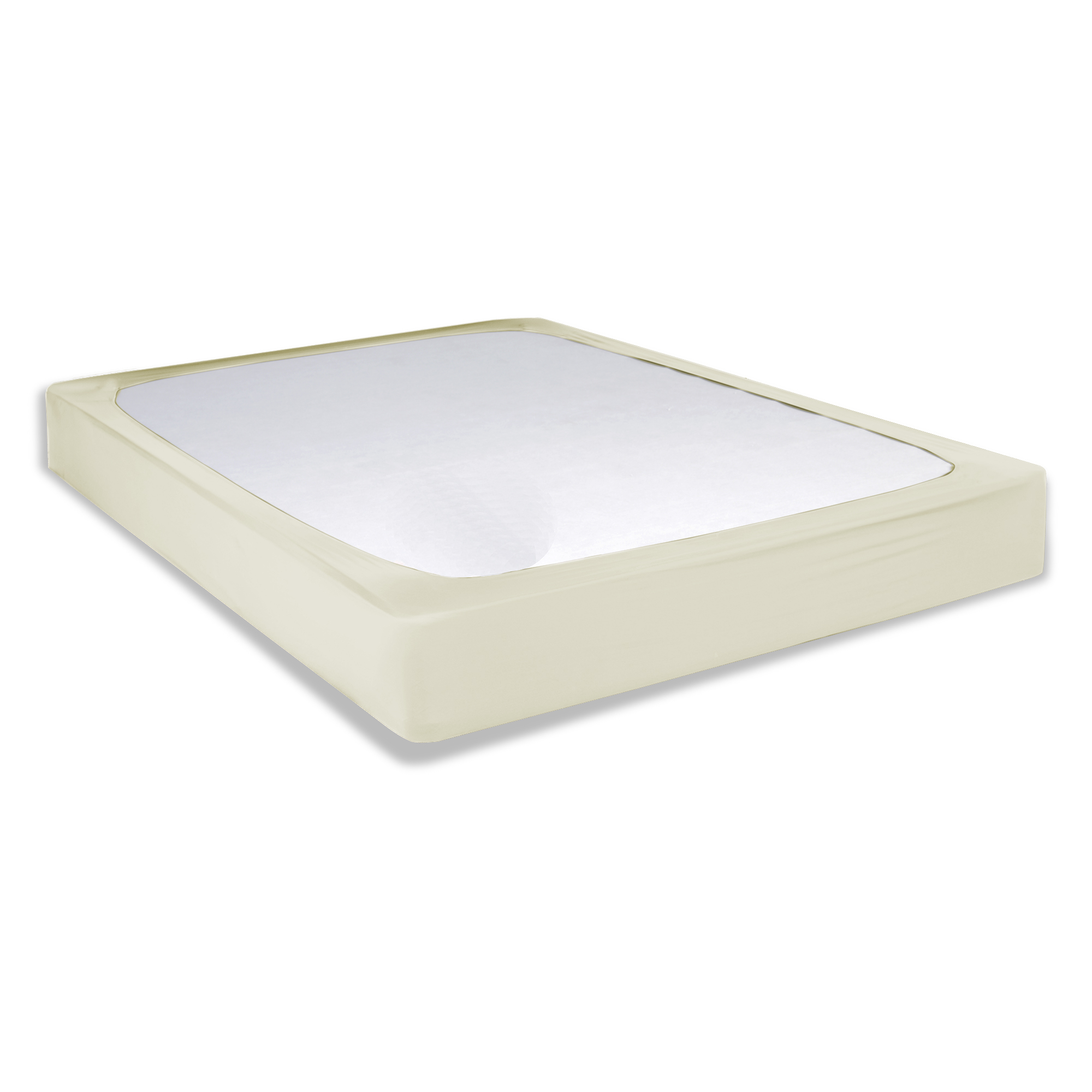 Sleep Plush + Ivory Fabric Box Spring Cover, Queen