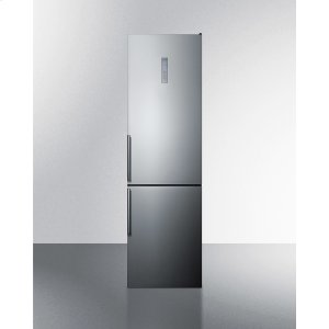 SummitCounter Depth Bottom Freezer Refrigerator, With Frost-free Operation, Factory-installed Icemaker, Digital Controls, Platinum Cabinet, and Stainless Steel Look Doors; Replaces Ffbf191ssim