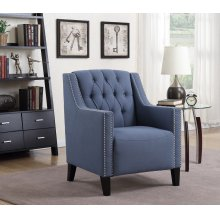 Perry Blue Tufted Accent Chair