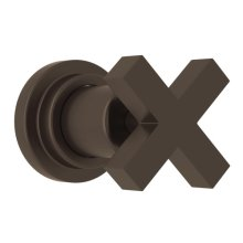 Tuscan Brass Lombardia Trim For Volume Control And 4-Port Dedicated Diverter with Cross Handle