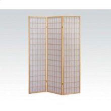 3-panel Natural Wooden Screen