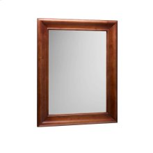 """Traditional 29"""" x 37"""" Solid Wood Framed Bathroom Mirror in Colonial Cherry"""
