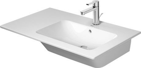 Me By Starck Furniture Washbasin Asymmetric 1 Faucet Hole Punched