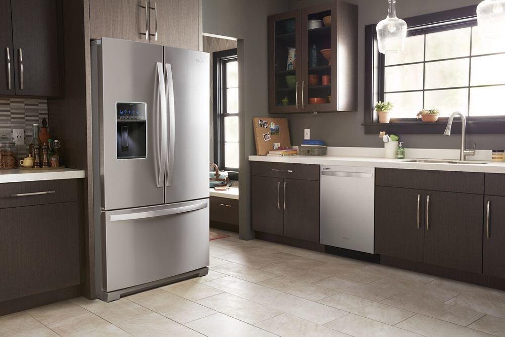 Wrf757sdhz Whirlpool 36 Inch Wide French Door Refrigerator 27 Cu Ft Fingerprint Resistant Stainless Steel Manuel Joseph Appliance Center