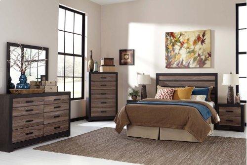 Harlinton - Warm Gray/Charcoal 2 Piece Bedroom Set