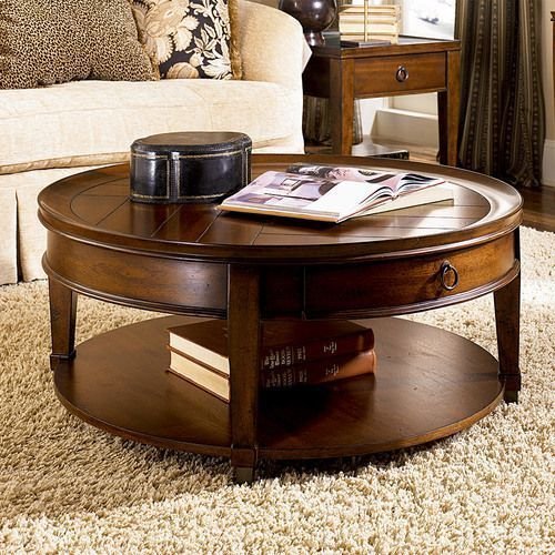 Sunset Valley Round Cocktail Table