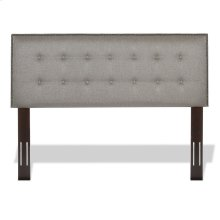 Easley Button-Tuft Upholstered Headboard with Adjustable Height and Nailhead Trim, Base Dove Gray Finish, Full / Queen