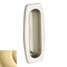 Non-Lacquered Brass Flush Pull