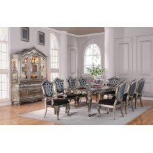 SILVER ANTIQUE DINING TABLE
