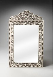 This magnificent Wall Mirror features old world craftsmanship. No two mirrors are ever exactly alike as each piece is handcrafted takes weeks of painstaking effort. The intricate patterns covering the piece are created from white bone inlays cut and indi Product Image