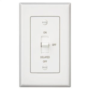 BroanFan/Light Control with off delay. 4 amps, 120V, White