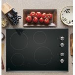 "GE 30"" Built-In Knob Control Electric Cooktop"