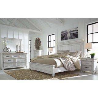 Kanwyn - Whitewash Queen 4 Piece Bedroom Set