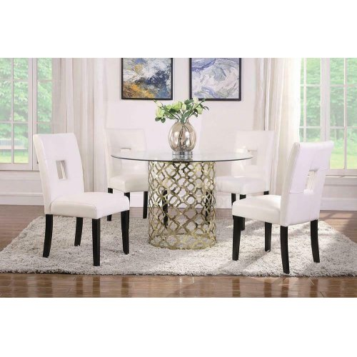 Bradshaw Modern Brushed Gold Dining Table