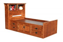 O-M283-T Mission Oak Twin Chest Bed