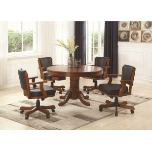CoasterMitchell Three-in-one Game Table and Four Arm Chairs