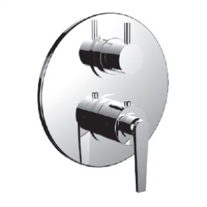 """7098ho-tm - 1/2"""" Thermostatic Trim With 3-way Diverter Trim (shared Function) in Polished Nickel"""