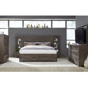 LEGACY CLASSIC FURNITUREFacets Wall Panel Bed w/ Storage Footboard, Queen 5/0