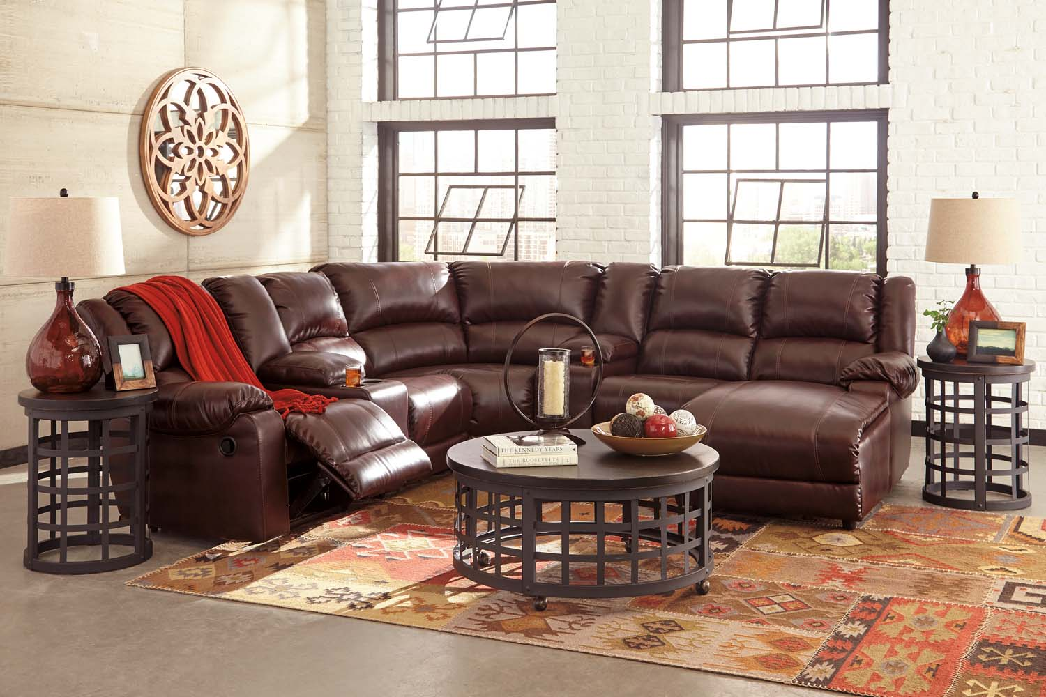 MacGrath DuraBlend®   Mahogany 5 Piece Sectional