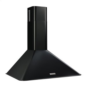 "BroanBroan 290 CFM, 30"" Wall-Mounted Chimney Hood in Black"