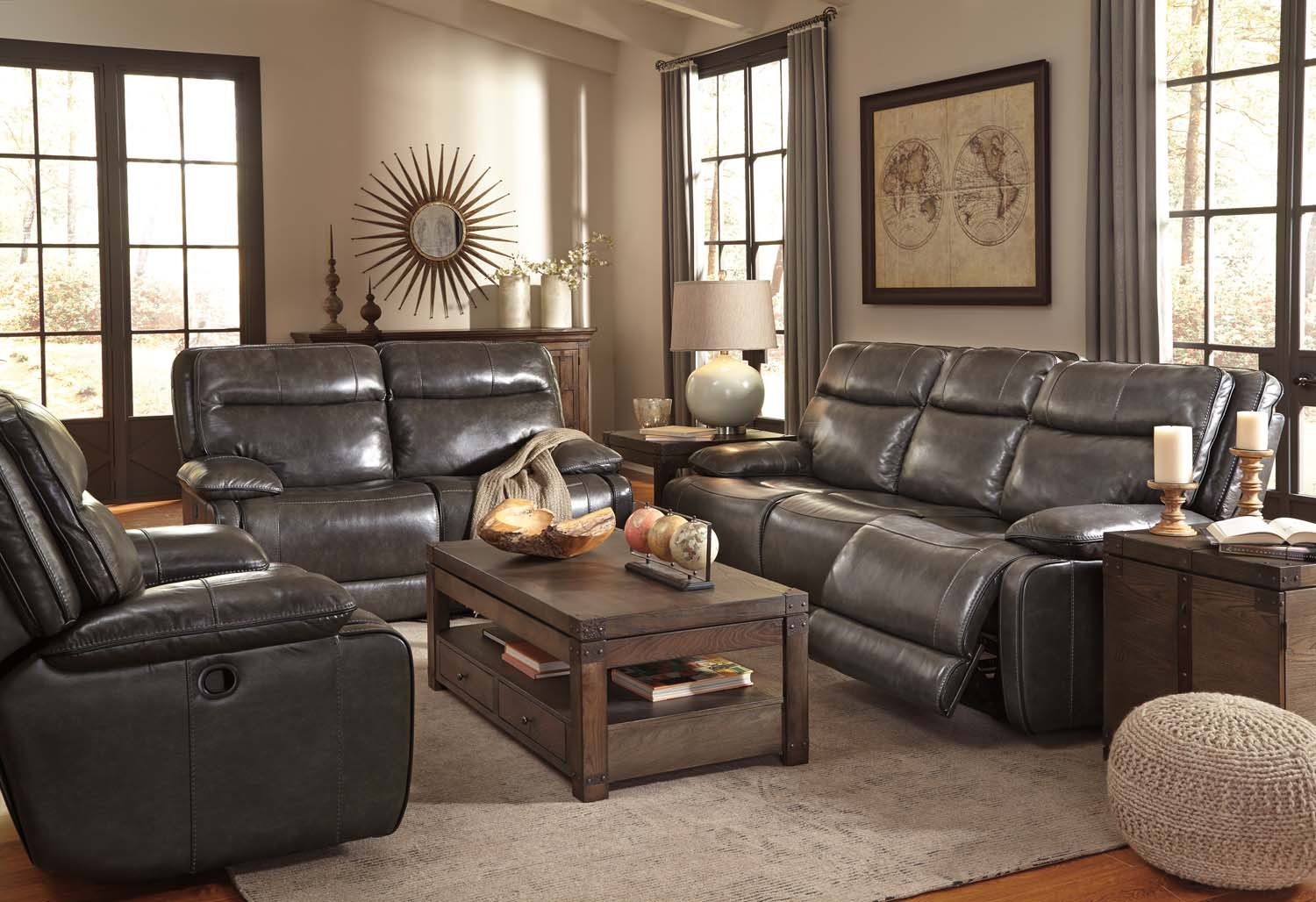 U72601U1 Palladum Metal 6 Piece Living Room Set by Ashley